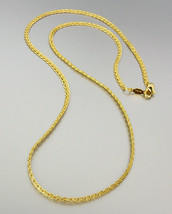18 kt Gold Plated 18 Inch Weave Chain Necklace - $10.34
