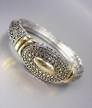 CLASSIC Designer Style Silver Gold BALINESE Weave Cable Dots Bangle Brac... - $573,50 MXN