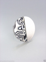 NATURAL Mother of Pearl Shell Inlay Silver Sati... - $7.51
