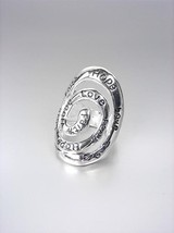 INSPIRATIONAL Scripture Silver Oval Scroll HOPE... - $8.45