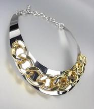 CHIC & STYLISH Silver Chunky Gold Metal Chain Drape Collar Choker Necklace - $23.99