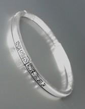 CLASSIC NEW Brighton Bay Silver Filigree Clear CZ Crystals Stretch Bracelet #39 - $9.40