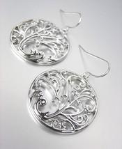 CLASSIC Brighton Bay Silver Filigree Texture Dangle Earrings - $12.22