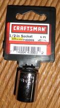 "Sears Craftsman 1/2"" socket 3/8 drive 6pt. socket 43003 NEW - $2.72"