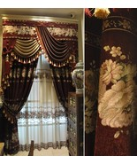 Pair of Top Curtains chenille curtain bedroom curtain living room curtai... - $218.00+