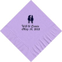 50 PERSONALIZED wester romance printed Luncheon dinner NAPKINS  - $11.95+