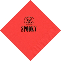 50 PERSONALIZED jack'o lantern printed Luncheon dinner NAPKINS with name... - $11.95+