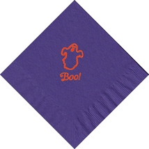 50 PERSONALIZED ghost printed Luncheon dinner NAPKINS with names or event - $11.95+