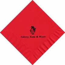 50 Personalized Holiday Bells Printed Luncheon Dinner Napkins  - $11.95+