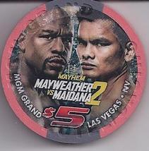 Mayweather Vs Maidana 2 Sept 13 2014 $5 @ Mgm Grand Boxing Chip - $14.95