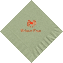 50 PERSONALIZED spider printed Luncheon dinner NAPKINS with names or events - $11.95+
