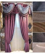 Pair of Top Curtains chenille curtain bedroom curtain living room curtai... - $199.00+