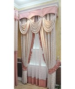 Pair of Top Curtains lace curtain bedroom curtain living room curtain ct... - $108.00+