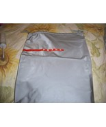 Designer Sleeper/ Dust Bag Prada Gray PVC with Red and white Logo - $6.99
