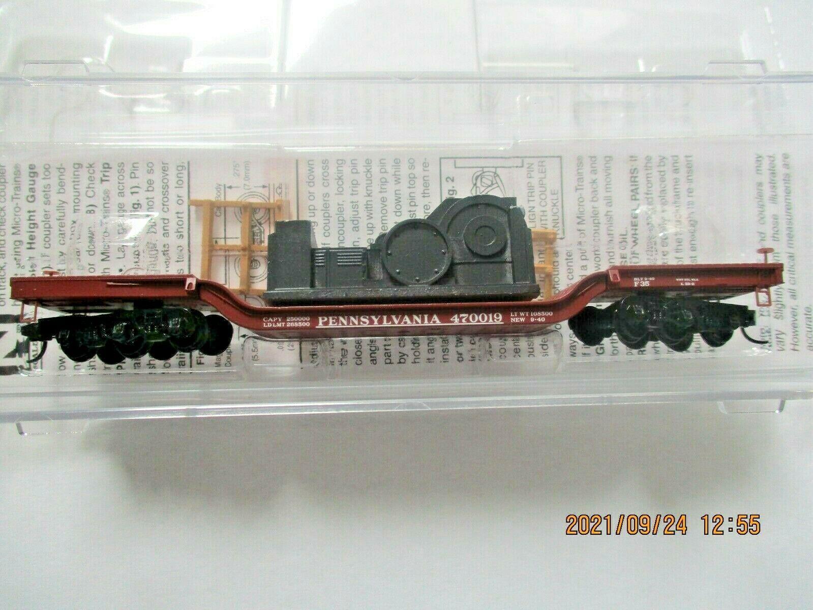 Micro-Trains # 10900011 Pennsylvania Railroad Depressed-Center Flat Car N-Scale