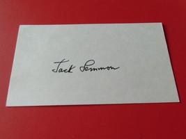 "JACK  LEMMON    SIGNED   AUTOGRAPHED   "" 3 X 5""   INDEX  CARD   NICE    !! - $24.99"