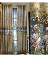 Pair of Top Curtains embroidery curtain bedroom curtain living room curt... - $98.00+