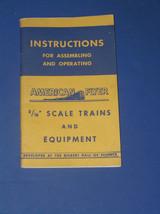 1949 AMERICAN FLYER TRAINS SET INSTRUCTION MANUAL - $19.99