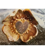 Antique Hat Pin Long Victorian Figural Dogwood Flower Stamens Heart Art ... - $95.00