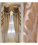 Pair of Top Curtains embroidery curtain bedroom curtain living room curt... - $218.00+