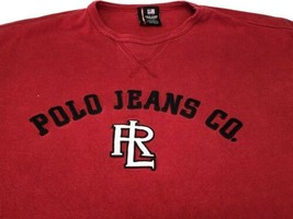 Men's Ralph Lauren Polo Jeans Company Red Sweater Stitched Letters PJC L... - $48.99