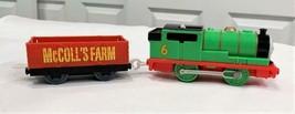 2009 Gullane Thomas Train Trackmaster Motorized PERCY + McColl's Farm Wa... - $24.54