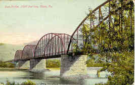 Ulster Pennsylvania State River Bridge 1910 Post Card - $5.00