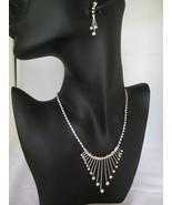 Bridal Austrian Crystal Silvertone  Necklace An... - $22.00