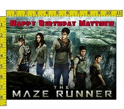 Maze Runner Team Personalized Edible Frosting Image 1/4 sheet Cake Topper - $9.99