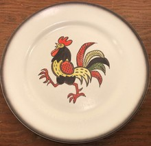 Red Rooster Metlox 1 Dinner Plate Brown Band Poppytrail Vernon 56596 - $20.99