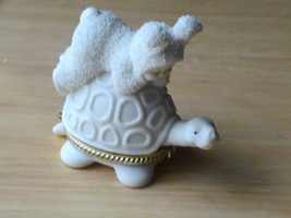 "Dept. 56 2001 Snowbunnies ""Piggyback?"" Trinket Box  - $20.00"
