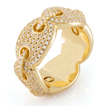 Mel Street Gold Lab Diamond Gucci Link Ring - $28.99