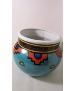 Southwestern style pot turquoise orange pottery 01 thumbtall