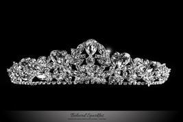Bethany Glam Cluster Silver Tiara | Swarovski Crystal - $108.95