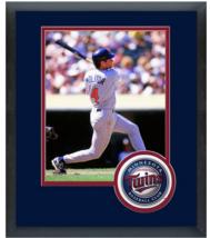 Paul Molitor Minnesota Twins Circa 1996 - 11 x 14 Team Logo Matted/Frame... - $43.55
