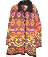 WOMEN'S BROWN PRINT BLANKET COAT SIZE 1X CEDAR CANYON - $39.99