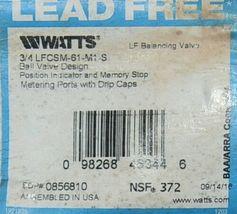 Watts 3/4 Inch LFCSM-61-M1-S Balancing Valve Ball Design image 6