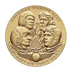 OFFICIAL US MINT American Fighter Aces Bronze Medal 3 Inch - $231.66