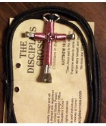 Buy 1 get 1  light Pink free disciples cross handcrafted necklace, brand... - $8.49