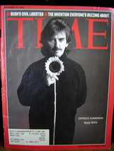 Beatles/ Time Magazine-Dec. 10,2001 Back Issue/ George Harrison 1943-2001 - $12.00