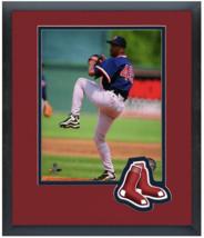 Pedro Martinez Boston Red Sox Circa 1998 - 11 x 14 Team Logo Matted/Framed Photo - $43.55