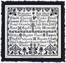 Ebony and Ivory cross stitch chart Tempting Tangles - $14.40