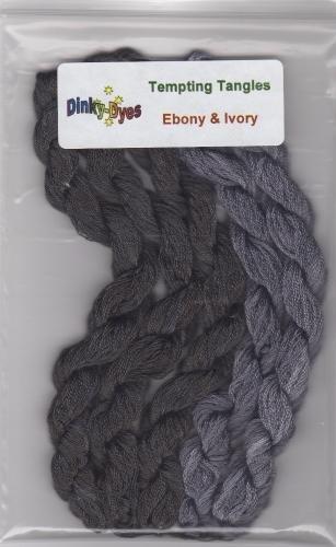 Ebone and ivory floss pack