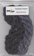 SILK FLOSS PACK Dinky Dyes (5 skeins) for Ebony & Ivory chart Tempting T... - $18.00