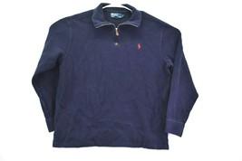 Polo Ralph Lauren Men's L 1/4 Zip Up Neck Long Sleeve Pullover Jacket Na... - $22.99