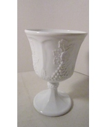 Colony Harvest Grape Milk Glass Goblet, Indiana... - $7.99