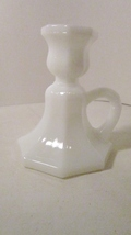 Chamber candle holder white glass octagonal base 01 thumb200