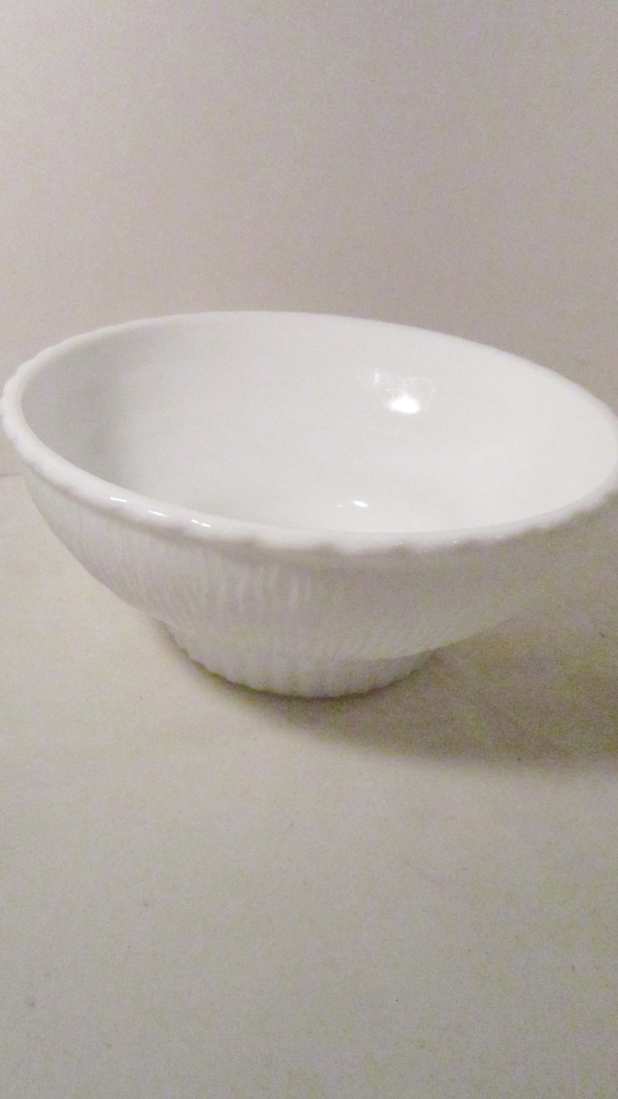 Primary image for Milk Glass Footed Vase 1975 marked F.T.D. White Bowl shape
