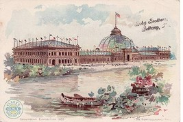 Antique Clark's O..N.T. Trade Card Columbian Exposition 1893 - $2.99