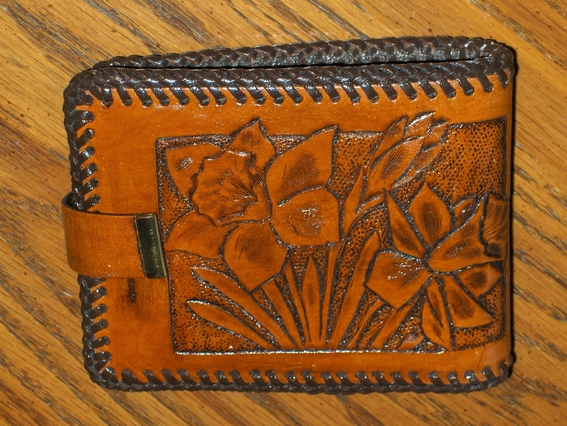 Handmade Brown Leather Womens Wallet